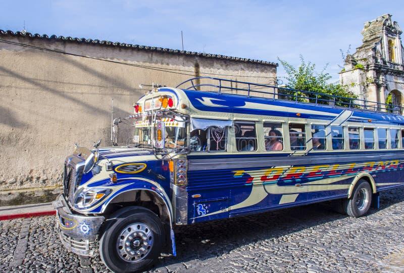 公共汽车鸡危地马拉人 免版税库存图片