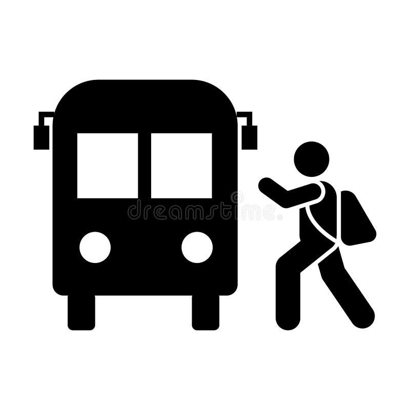 公共汽车,男孩,学校,去象 教育图表象的元素 r r 皇族释放例证