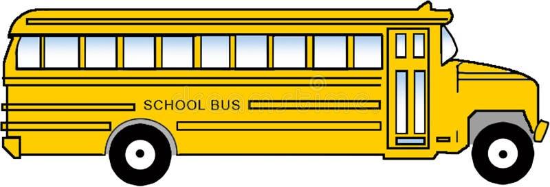 公共汽车clipart学校 免版税库存图片