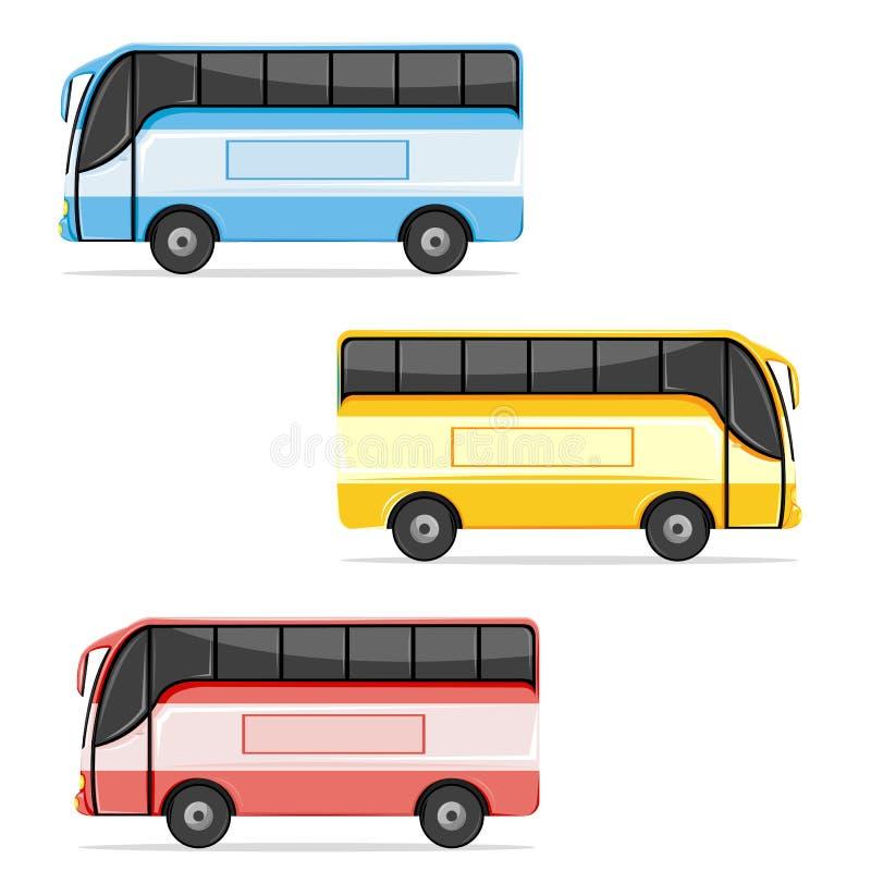 公共汽车colorfull 皇族释放例证