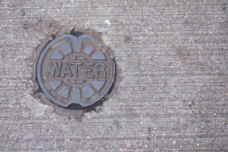 水公共盖子 库存照片