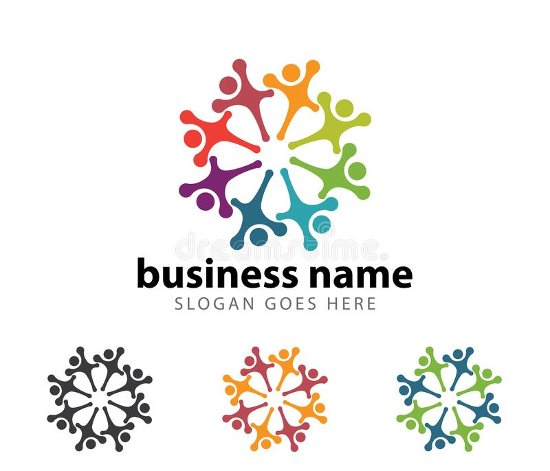 公共组织领导成功成就商标设计 向量例证