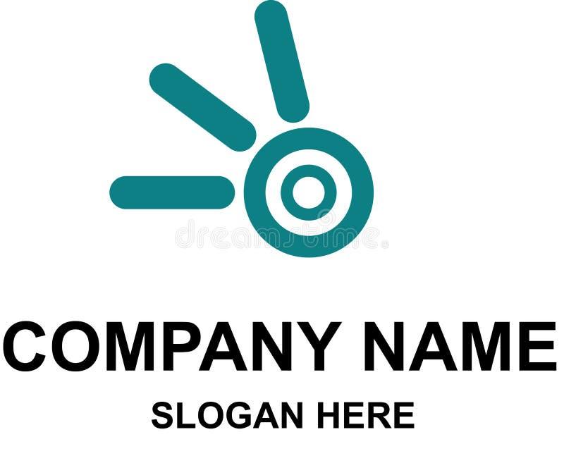 公司与名字的商标模板 向量例证
