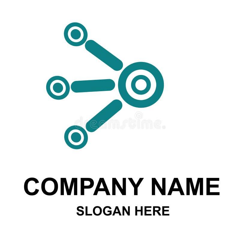 公司与名字的商标模板 皇族释放例证