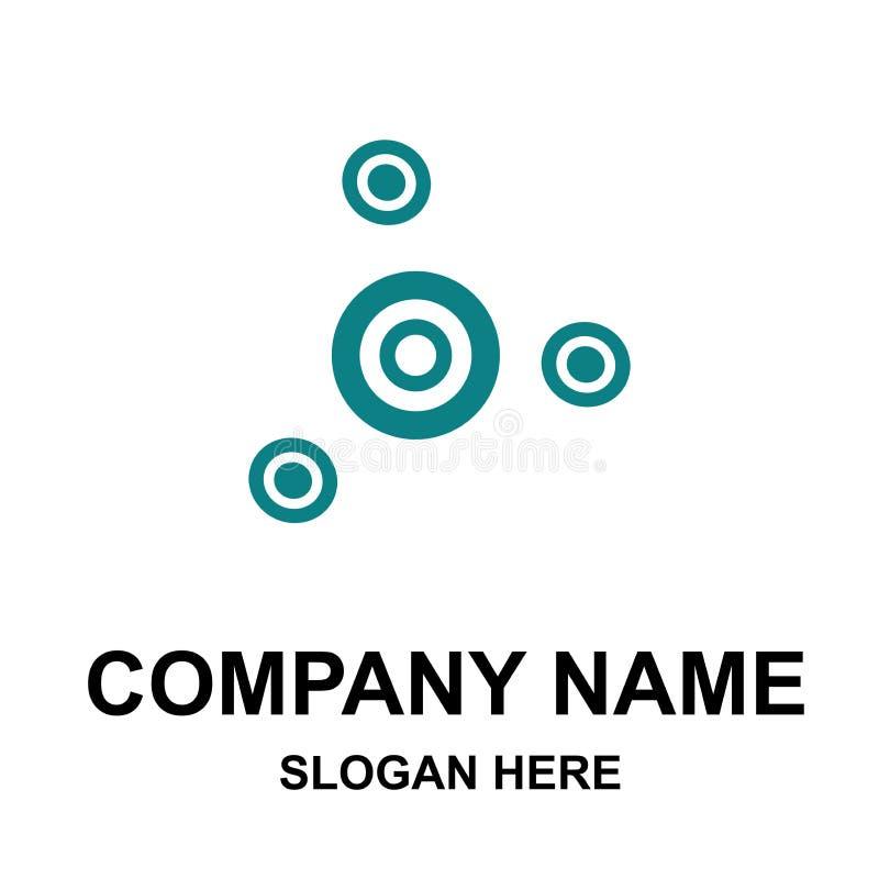 公司与名字的商标模板 库存例证