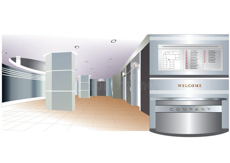 公司业务公司室内大厅区域 皇族释放例证