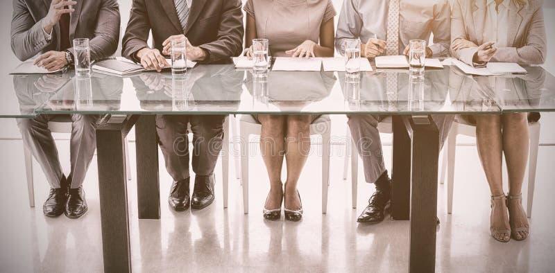 公司人事干事组在办公室 免版税图库摄影