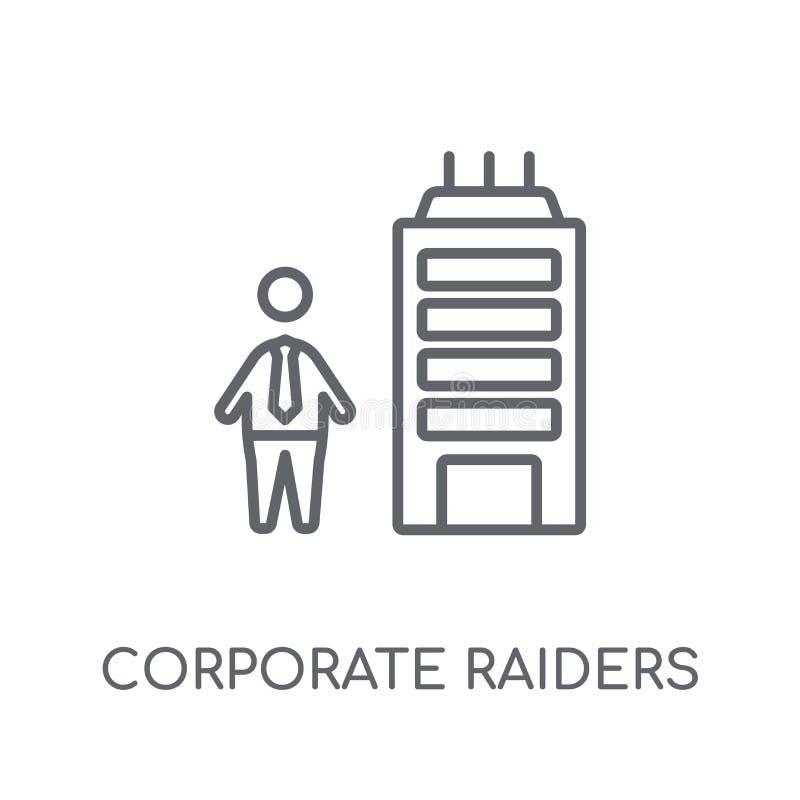 公司入侵者线性象 现代概述公司入侵者 库存例证