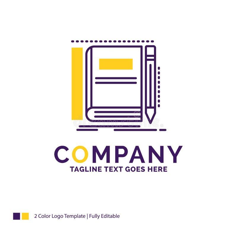 公司名称书的,笔记本,笔记薄,口袋,sk商标设计 向量例证
