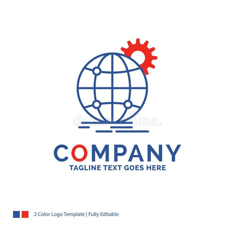公司名称国际的商标设计,事务,地球,wor 向量例证
