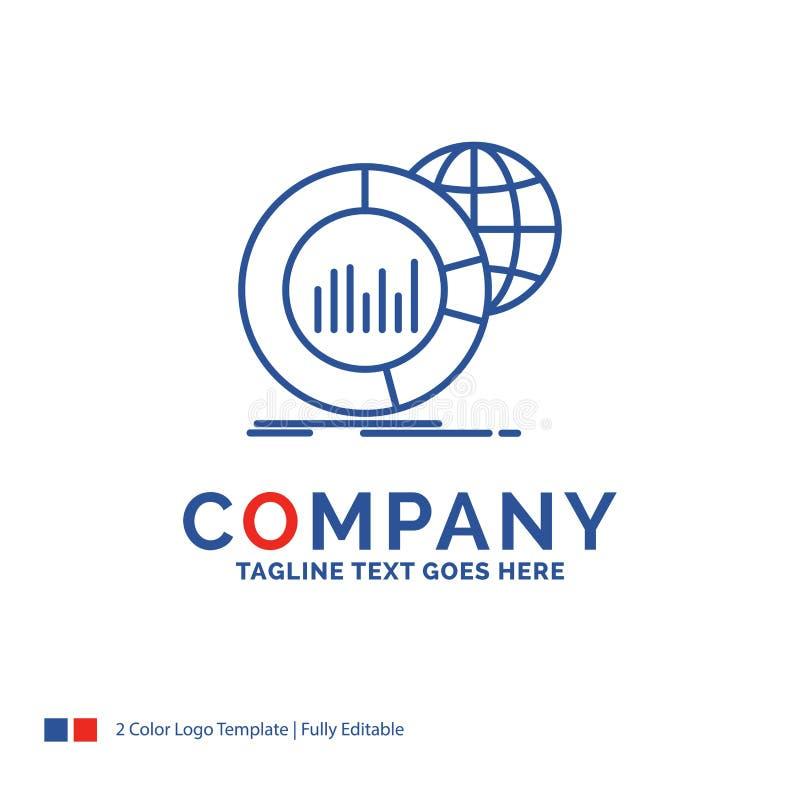 公司名称大的商标设计,图,数据,世界,infographi 向量例证