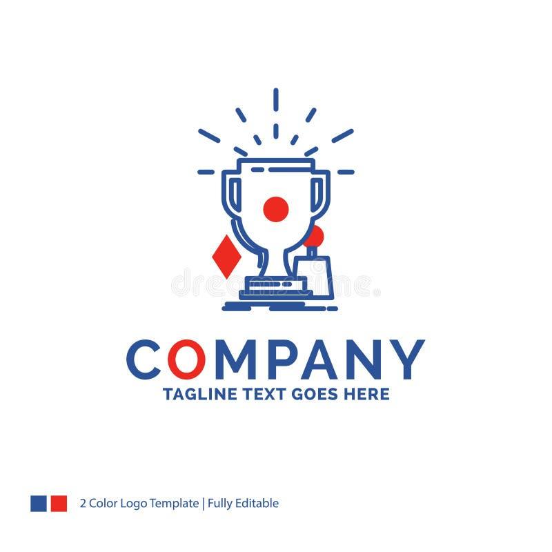 公司名称奖的商标设计,比赛,体育,战利品,winn 向量例证