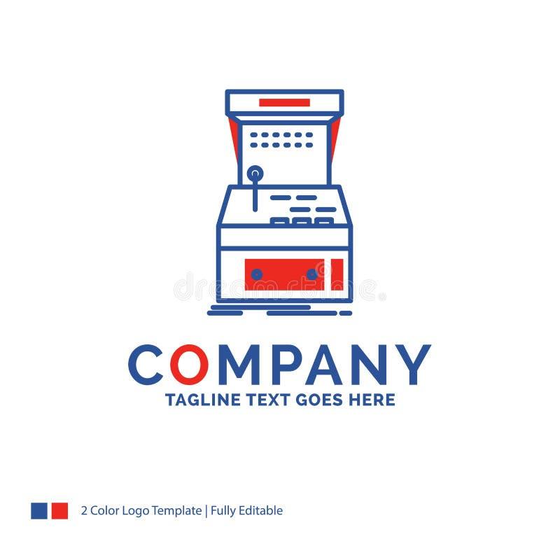 公司名称拱廊的,控制台,比赛,机器,pla商标设计 向量例证