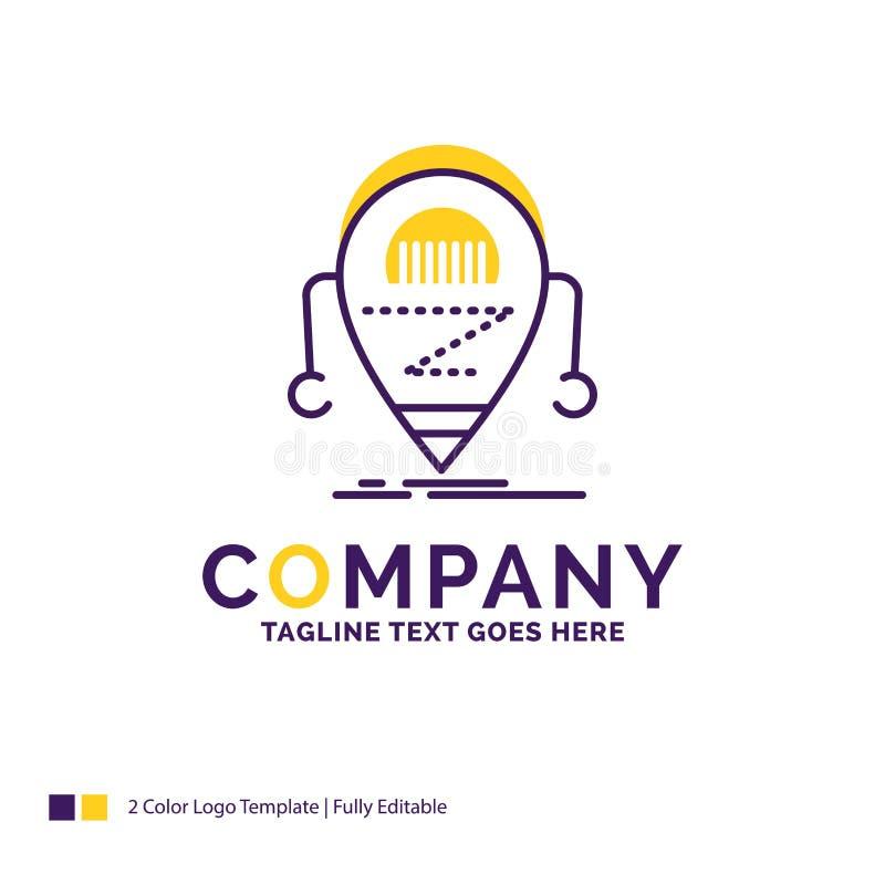 公司名称机器人的商标设计,beta,droid,机器人,Techno 向量例证