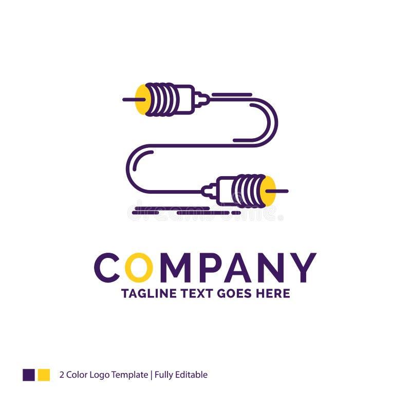 公司名称蜂声的,通信,互作用,m商标设计 向量例证