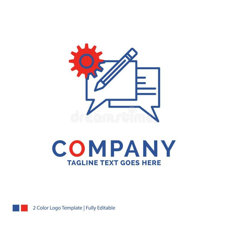 公司名称闲谈的,通信,讨论,se商标设计 皇族释放例证