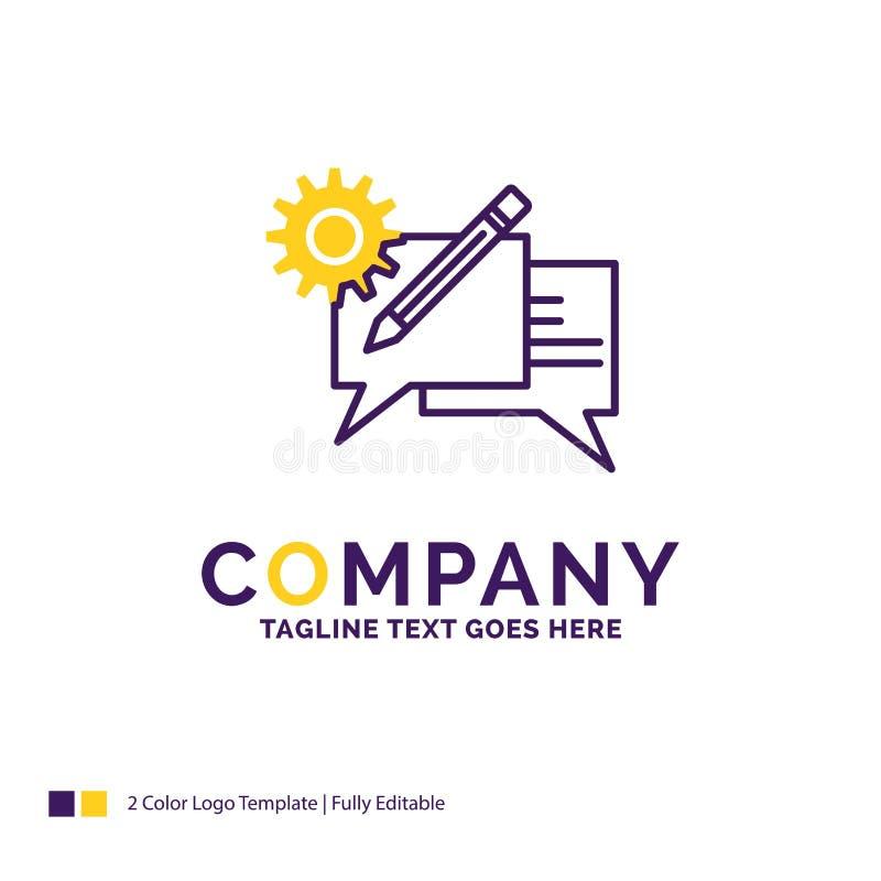 公司名称闲谈的,通信,讨论,se商标设计 向量例证