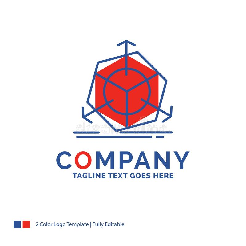 公司名称3d的商标设计,变动,更正,modificatio 皇族释放例证