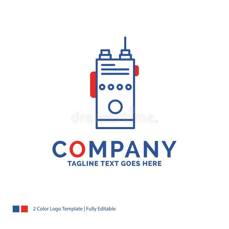 公司名称walkie的,有声电影,通信,radi商标设计 向量例证