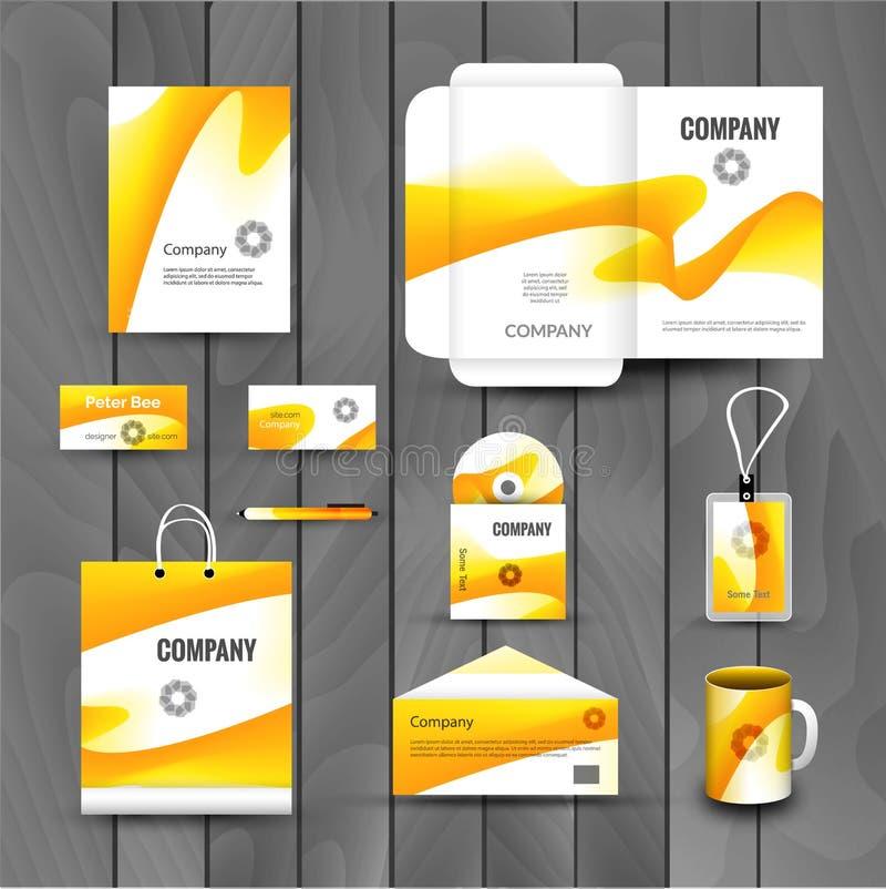 公司品牌企业身分设计模板布局 信件,信头,文件夹,卡片 传染媒介公司三角 向量例证