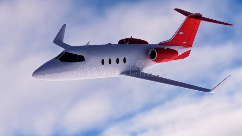 公司喷气机 皇族释放例证