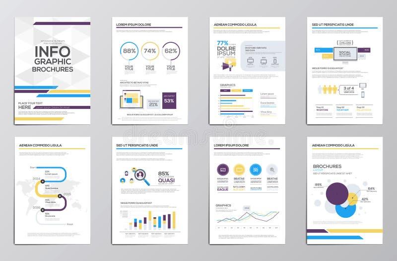 公司小册子的Infographics元素 库存例证