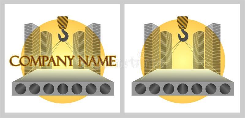 公司建筑徽标 皇族释放例证