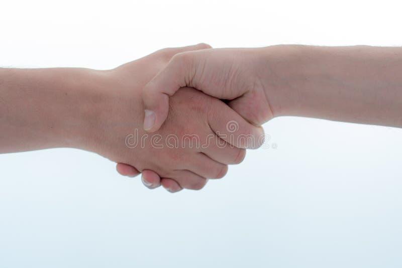公司握手和成交 免版税图库摄影