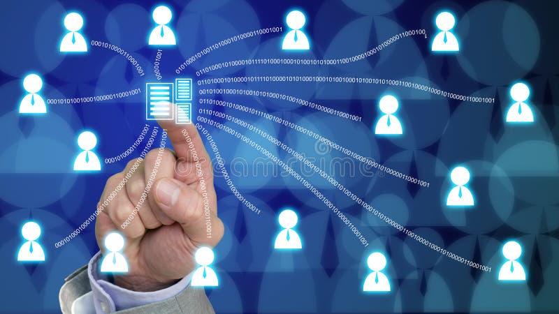 公司数据管理概念 皇族释放例证