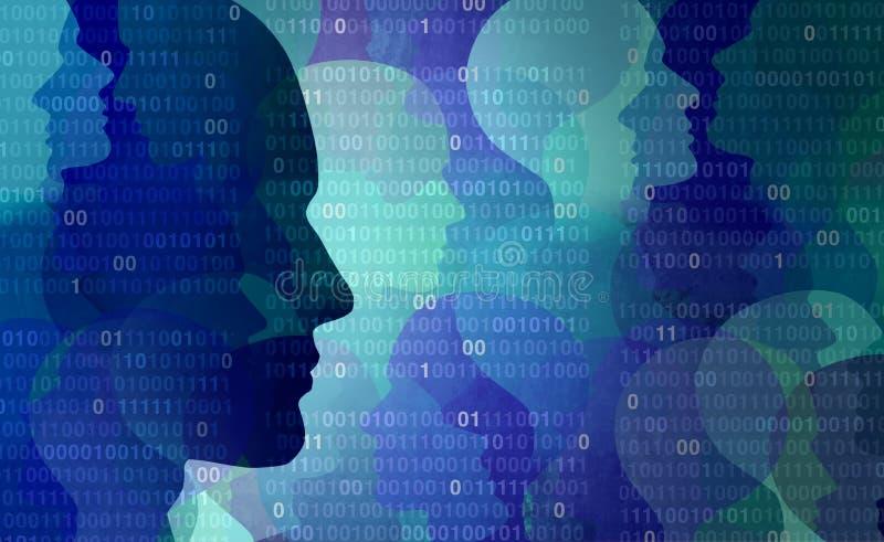 公司数据管理 向量例证