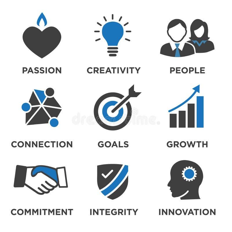 公司核心重视网站或Infographics的坚实象 向量例证