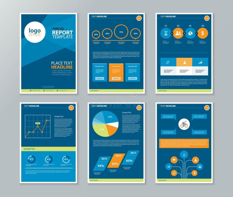 公司概况,年终报告,小册子,飞行物,页面设计模板 向量例证