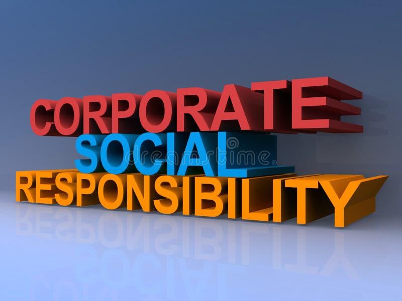 公司的社会责任 库存例证