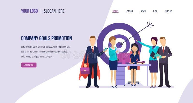 公司目标促进 内部营销,管理,在工作生产力的增量 皇族释放例证