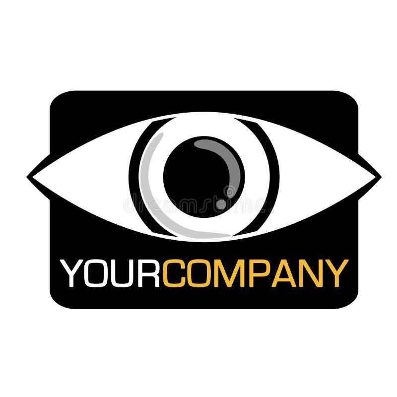 公司眼睛徽标 库存例证