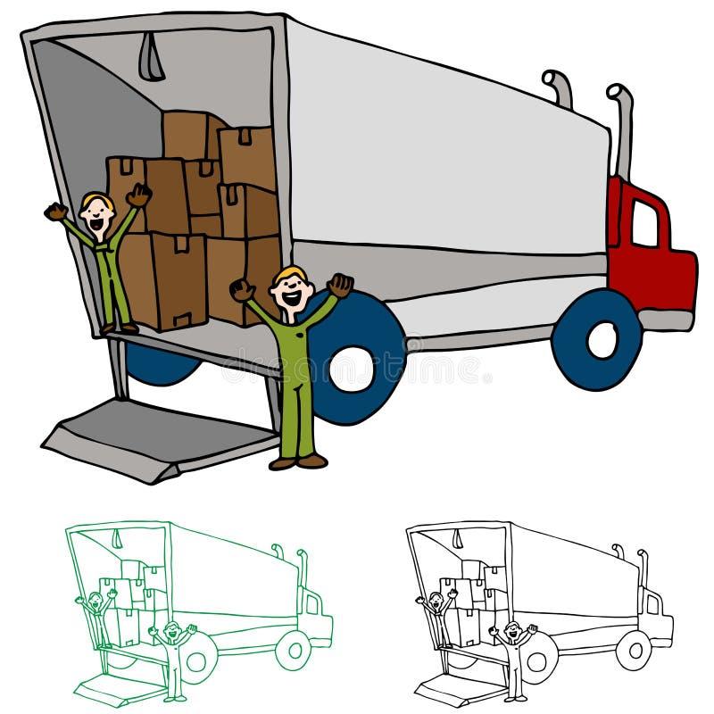 公司移动卡车 向量例证