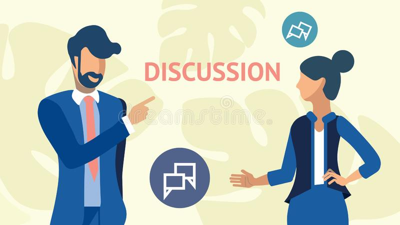 公司策略讨论传染媒介例证 库存例证