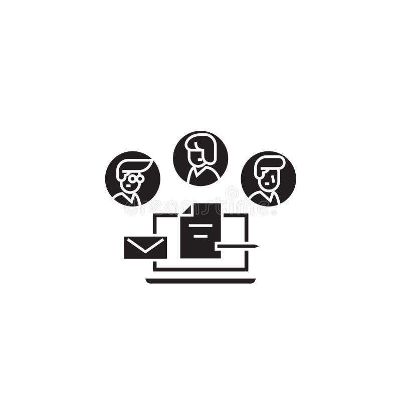 公司管理环境黑色传染媒介概念象 公司管理环境平的例证,标志 向量例证