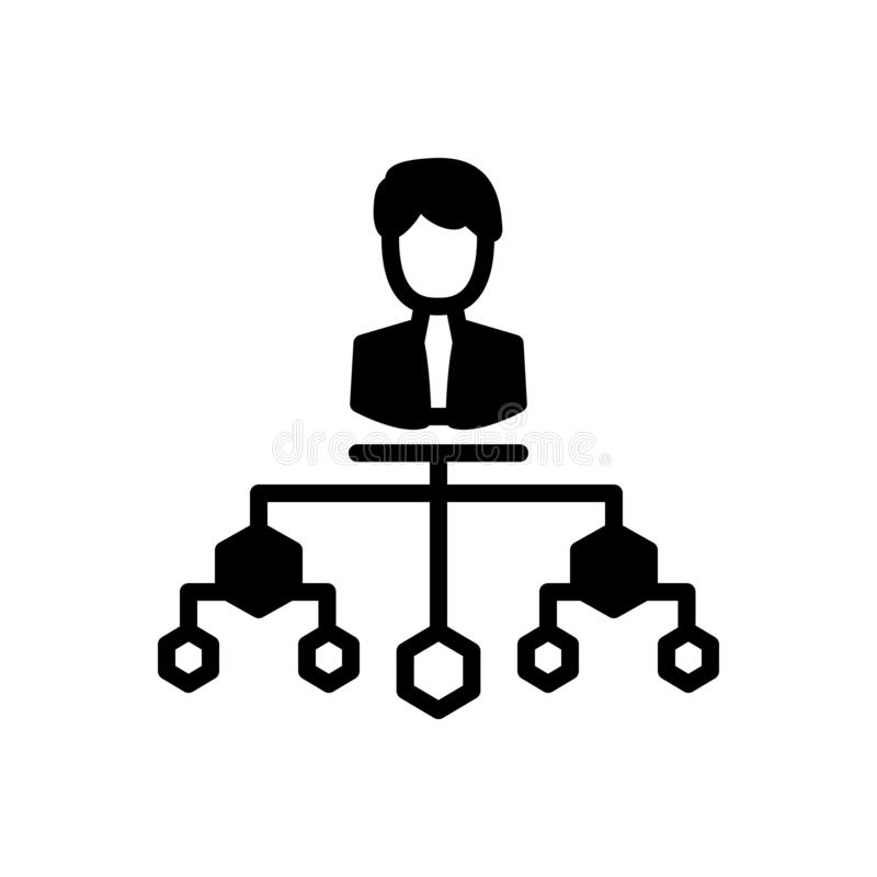 公司结构、组织和公司的黑坚实象 库存例证