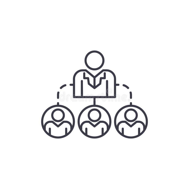公司结构线性象概念 公司结构线传染媒介标志,标志,例证 皇族释放例证
