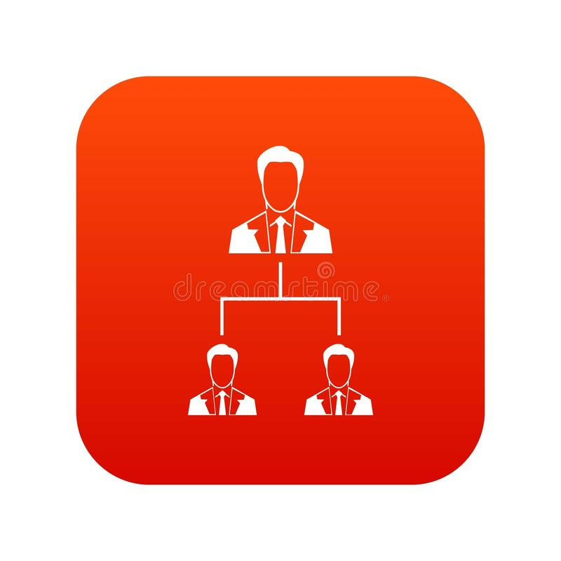公司结构象数字式红色 库存例证