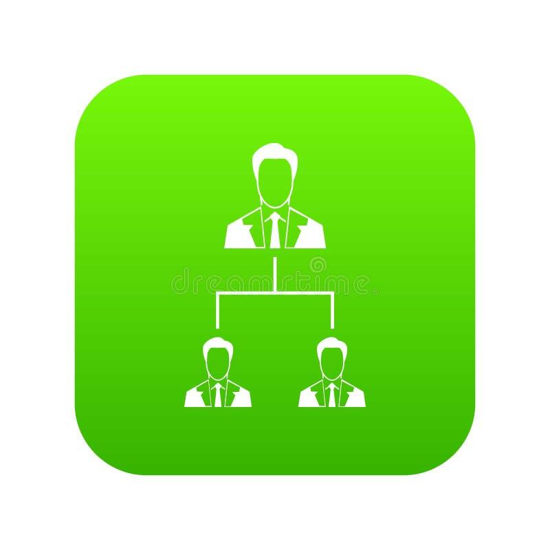 公司结构象数字式绿色 皇族释放例证