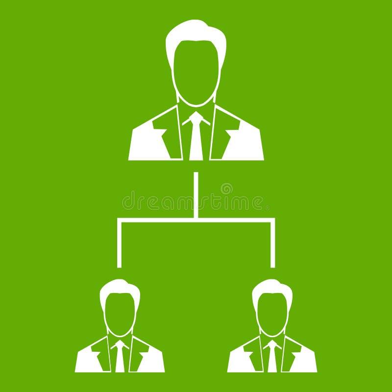 公司结构象绿色 向量例证