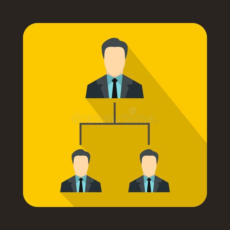 公司结构象,平的样式 库存例证