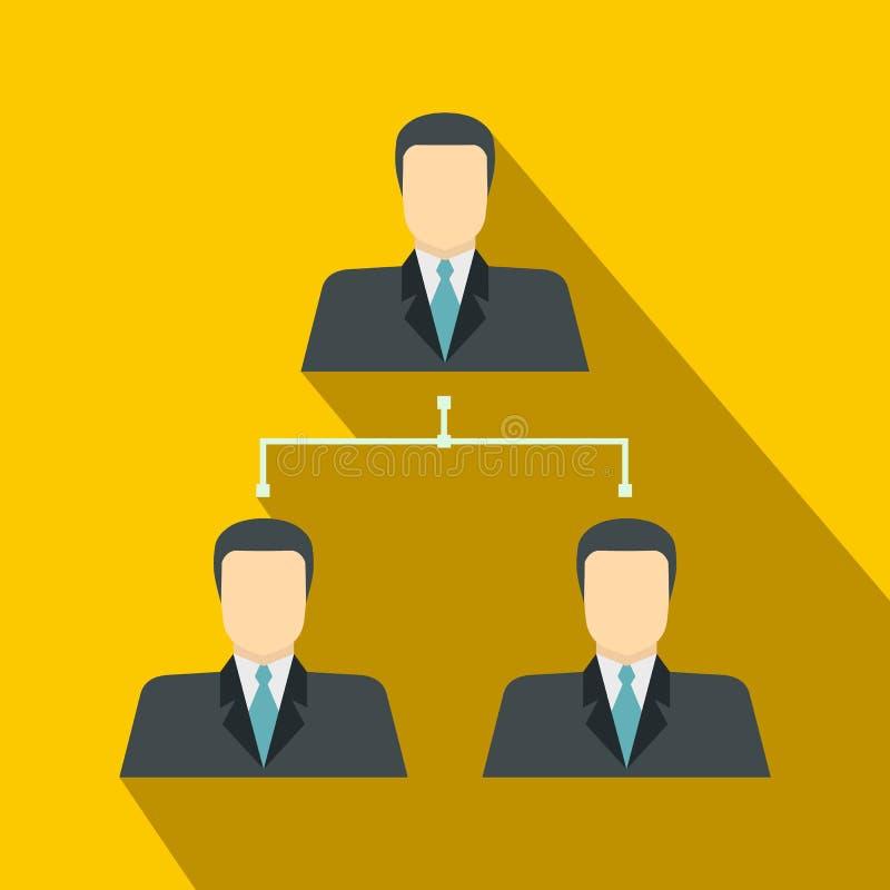 公司结构象,平的样式 向量例证