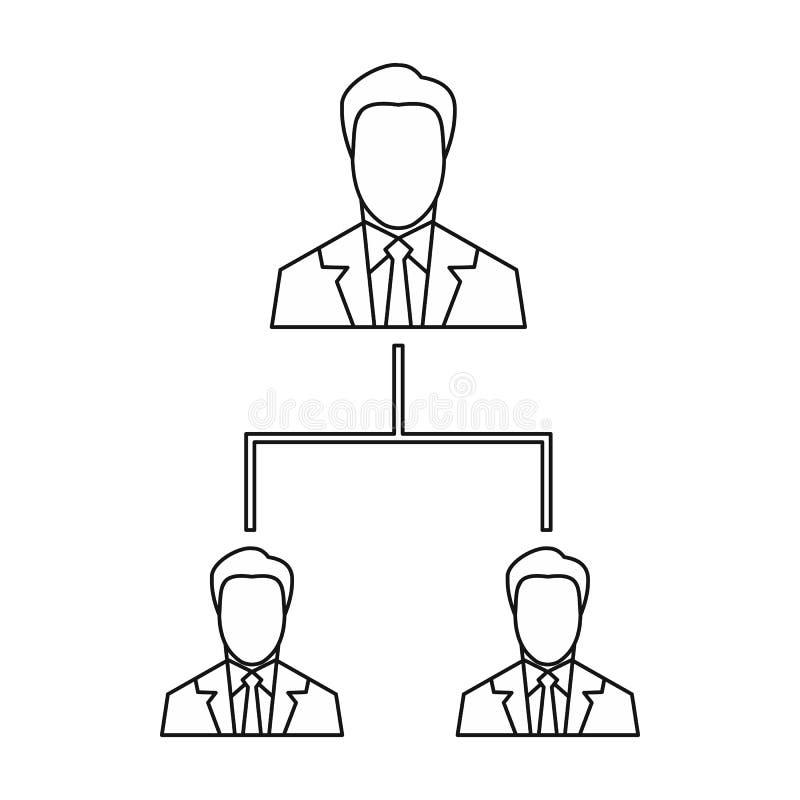 公司结构象,概述样式 向量例证