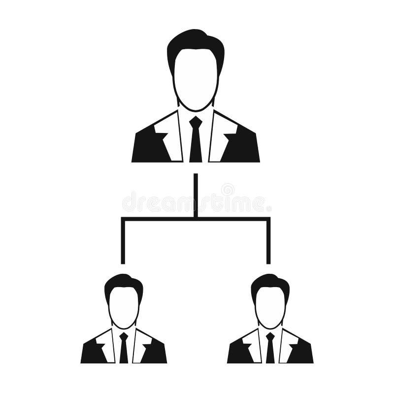公司结构象,简单的样式 皇族释放例证