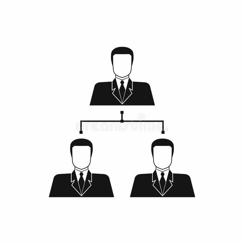 公司结构象,简单的样式 向量例证