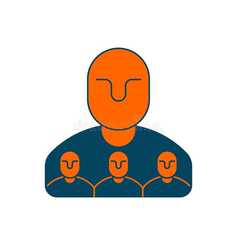 公司结构象 人事管理 上司和subordina 向量例证