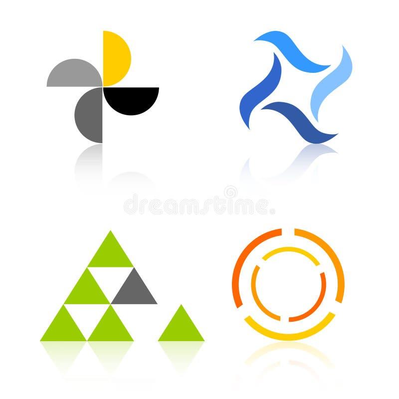 公司要素徽标徽标 库存例证
